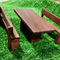 Fairy Outdoor setting (Doll House) Table and 2 Bench Seats