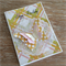 Pretty Yellow & Pink Butterfly Happy Birthday Card