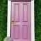 LAVENDAR Fairy Door OPENING DOOR MIRROR BEHIND