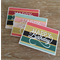 Set of 3 Happy Birthday Colourful & Gold Foil Striped Cards