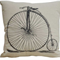 Penny Farthing - Bicycle - Chic Linen Alpaca Cushion