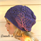 Purple Women's hat, crochet slouchy beanie, winter warm wool fashion beanie.