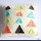 White Multicolour Geo Triangles Pin Cushion