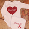Personalized Glitter Heart Set - Onsie & Bib