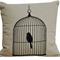 Wire Bird Cage - Chic Linen Alpaca Cushion