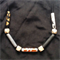 Monochrome Marble geometric copper gold adjustable bead statement necklace large