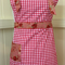 APRON - Beautiful quality red gingham fabric. Ideal Mother's Day gift.