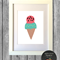 watermelon ice cream print