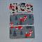 3 Burp Cloth Gift Set, Grey Fox Forest Animals Print Flannelette.