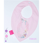 DribbleGems Girls Ruffle Dribble Sensory Teething Chew Bib! Non Toxic Silicone
