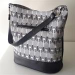 Scallop Print Handbag