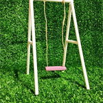 Fairy / Doll House Swing with Pink Seat For Inside or Outside Use