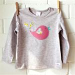 pretty birdie | toddler girls applique tee | size 1 | SALE