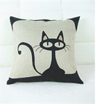 Black Cats - who says they are bad luck - Alpaca Cushion  - Kitty Kats!!