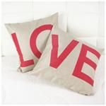 Special Occasions - Be My Valentine - L O V E  Cushion Set - Alpaca
