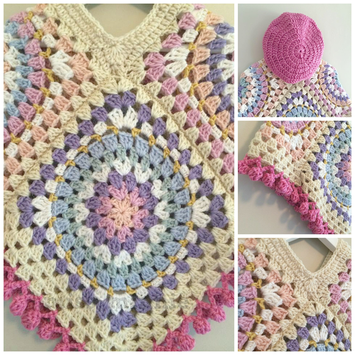 granny square poncho instructions