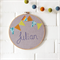 personalised | name hoop art | baby nursery bedroom decor gift