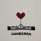 I Heart Canberra Tea Towel