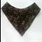 Leopard print bandana bib