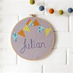 personalised | name hoop art | baby nursery bedroom decor gift