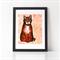 "Red Tabby Cat Print 8 x 10"""
