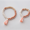 Mother and Daughter Matching Bracelets jewellery set in Peach Pink - Mothers Day