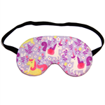 Princess Unicorn on Purple Blue Sleep Eye Mask