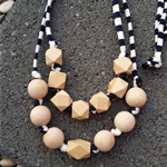 Statement Necklace - Breathtaking Navy/White