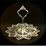 1 tier Vintage Glass Star Jewelry Stand for your wedding ring or soap holder