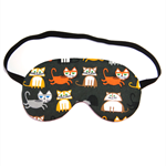 Cats on Slate Grey Sleep Eye Mask