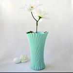 SEA DREAMING - handmade vase cast in seafoam green resin