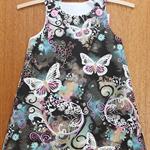 Butterfly Filigree A-Line Dress. Size 3