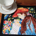 Renoir mug rug, table topper 