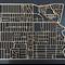 Coburg 3058. Laser cut, street map, wall decoration in varnished MDF.