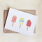 Blank Greeting Card, Ice Blocks, Popsicles Birthday, All Occasion