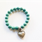 Turquoise Howlite Bracelet with Silver Heart