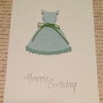 Happy Birthday Dress  Card set of 3