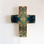 Wooden Cross with Abstract Photo Image