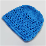 crochet baby beanie | bright blue | baby shower gift | newborn - 6+ months