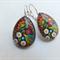Mulitcoloured Flower Teardrop Earrings