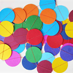 Paper Dot Confetti Circle Garland Rainbow 3 Metres for Parties, Decoration