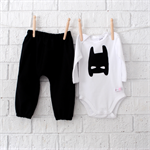 Batman Onesie and Harems - super hero, outfit, boy, girl, baby, black newborn,