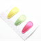Aria - baby snap clips. Hot pink, Green and Yellow