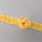 crochet headband | yellow with rose | gift | girl | toddler | 1 - 5 years