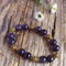 Amethyst & Antique Gold Tibetan Bead Bracelet