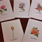 Boxed set of Handmade Greeting, Gift Cards with verse inside and includes Pen