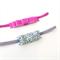 Velvet & Glitter Bow Duo - Velvet Bow - Glitter Bow - Raspberry - Silver