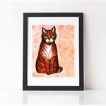 Red Tabby Cat Print 8 x 10""
