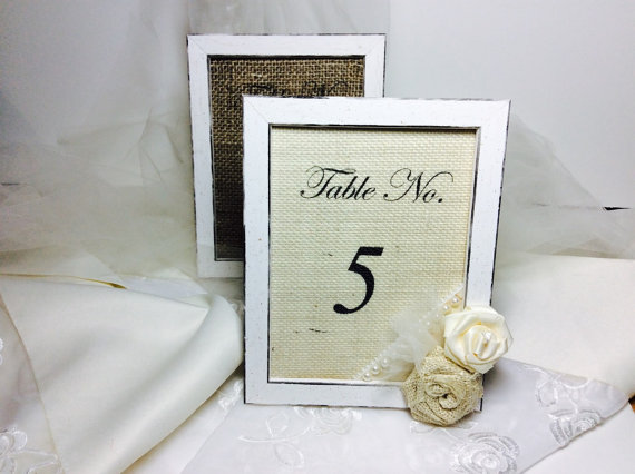 Table number frames, Wedding table numbers, Vintage style table ...