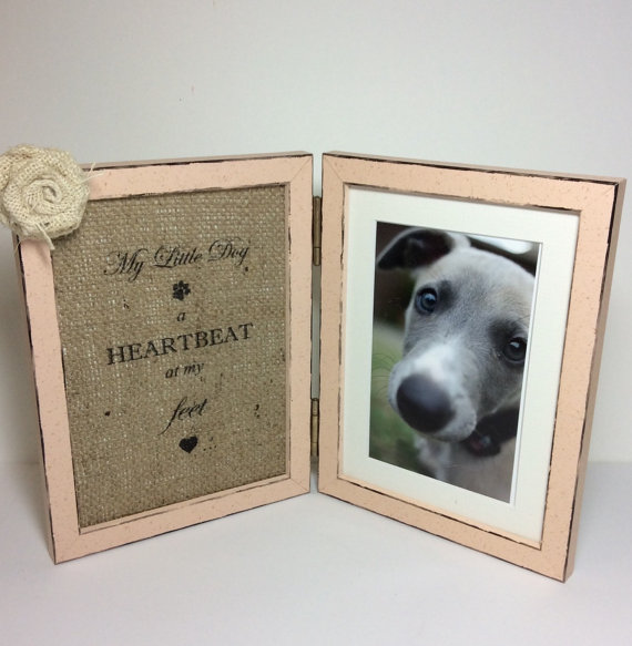 Photo Frame with quote for Dog, 4x6 pet picture frame, Double frame ...